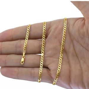 """Real Solid Gold Cuban Link Chain 2.5 22"""" BRAND NEW"""